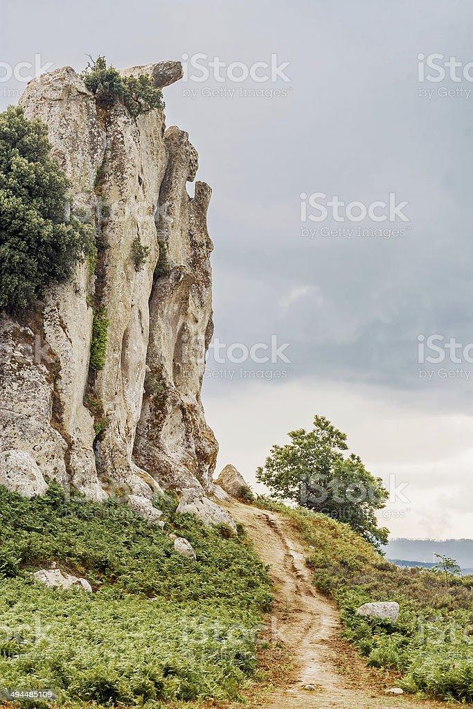 Celtic big stone like praying madonna royalty-free stock photo