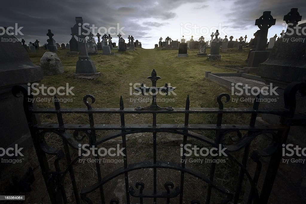 Celtic cemetery royalty-free stock photo