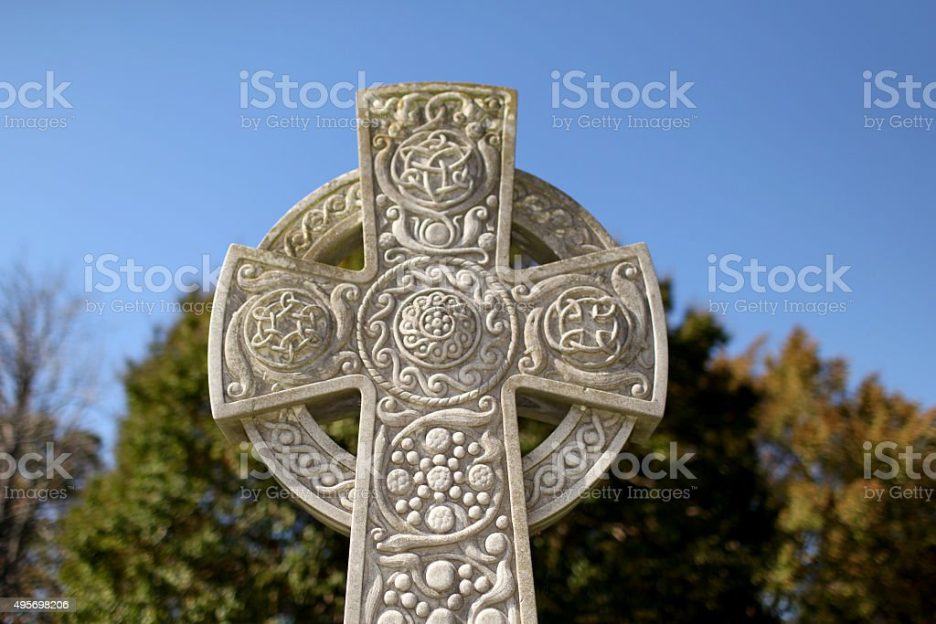 Celtic Crooss stock photo