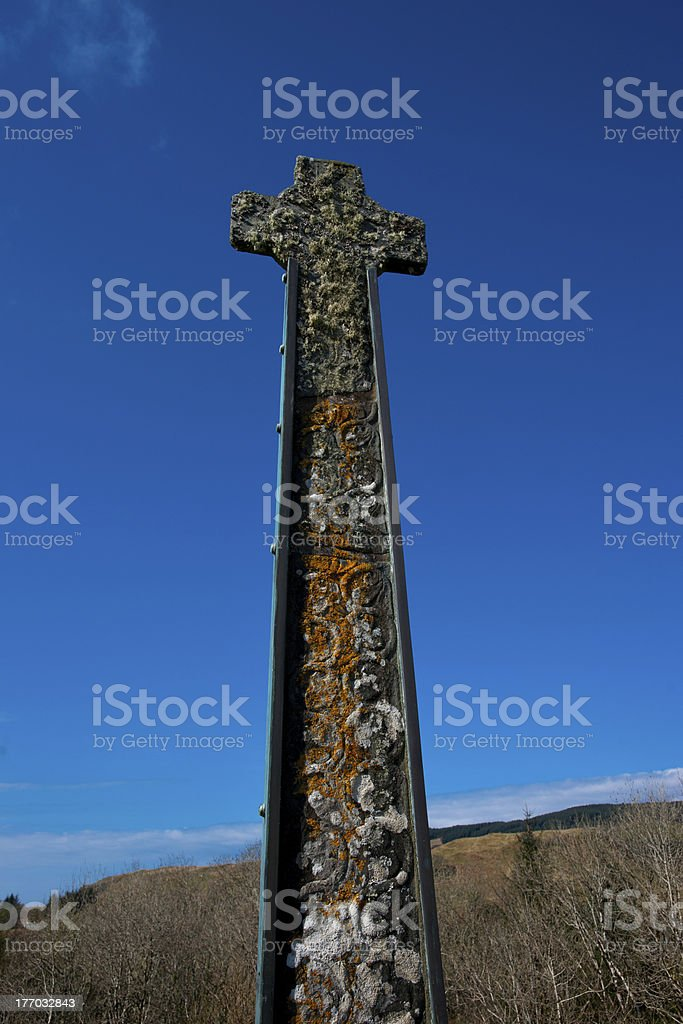 Celtic Cross against blue sky royalty-free stock photo