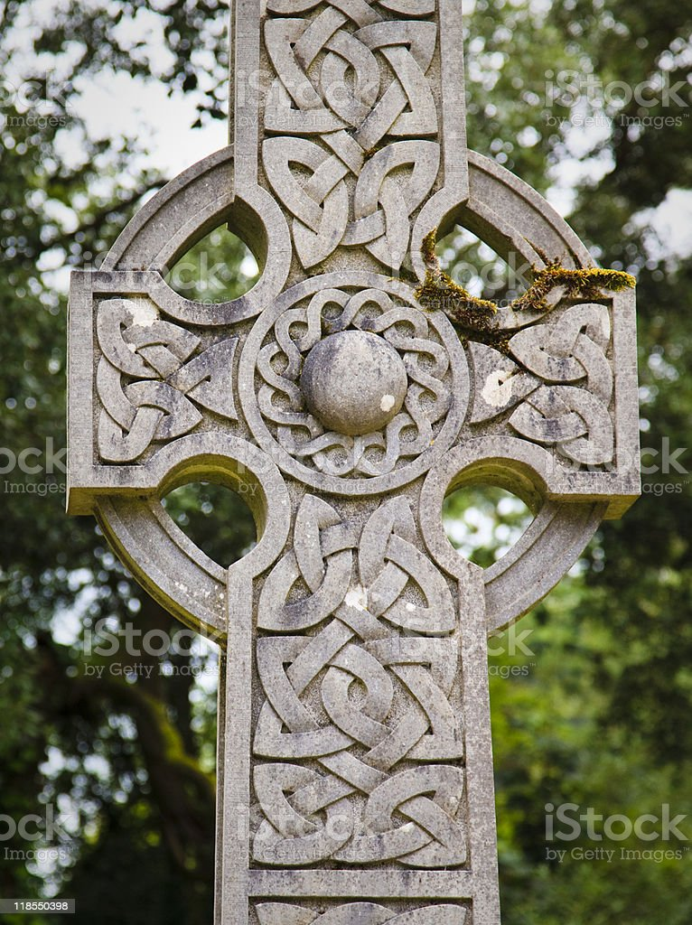 Celtic Cross Closeup royalty-free stock photo