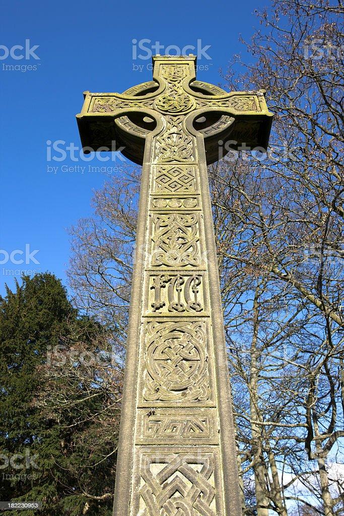 Celtic Cross Monument stock photo
