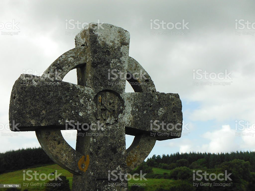 Celtic Cross On A Cloudy Day stock photo