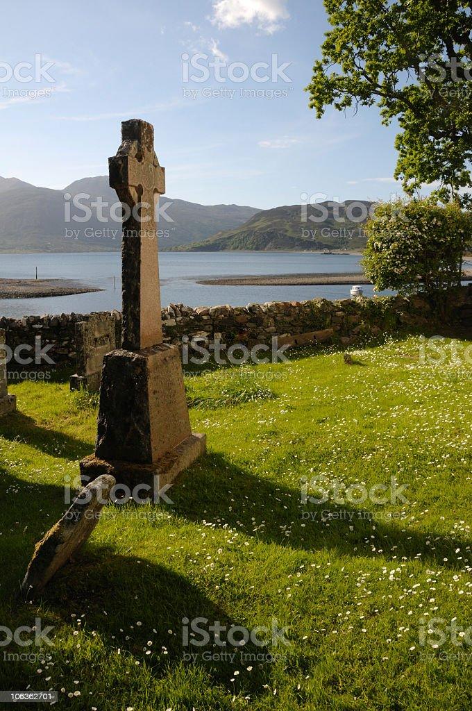 Celtic cross. royalty-free stock photo