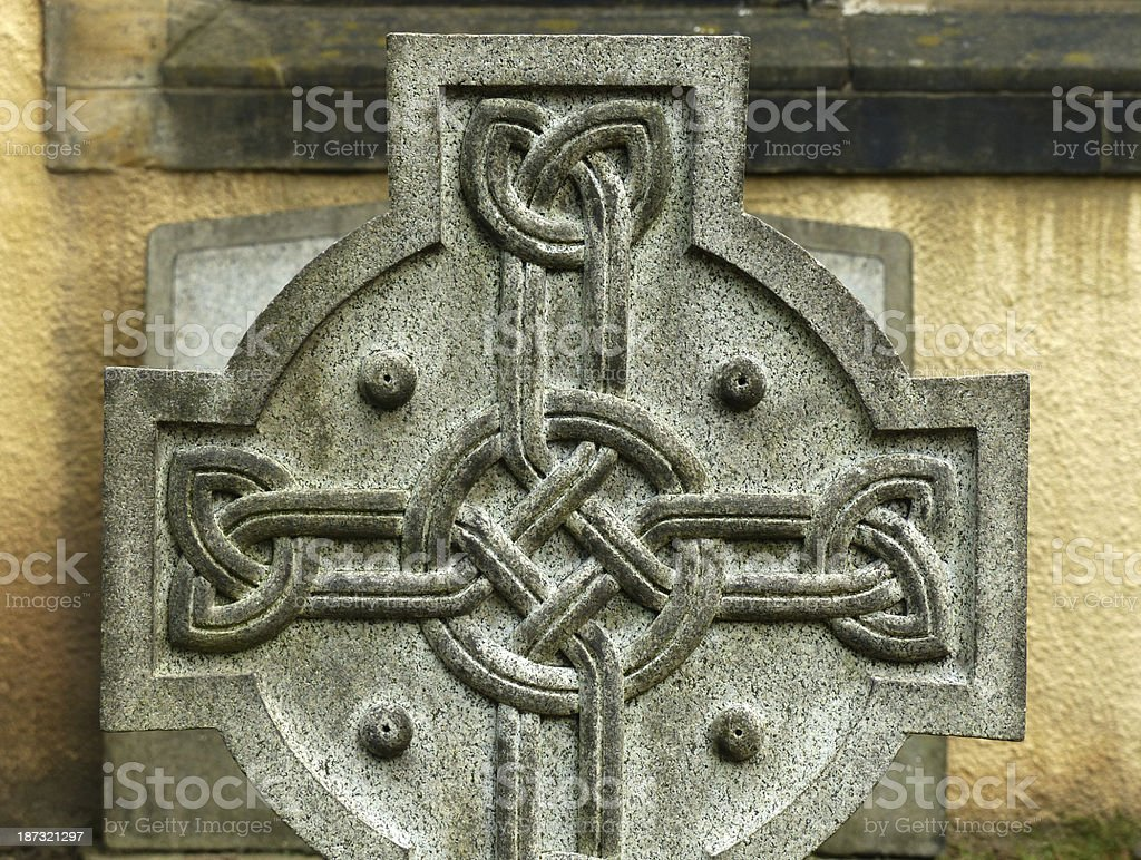 Celtic cross stock photo