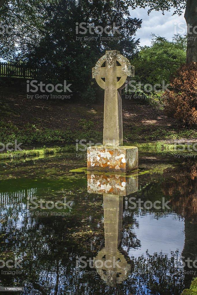 Celtic Cross Reflection royalty-free stock photo