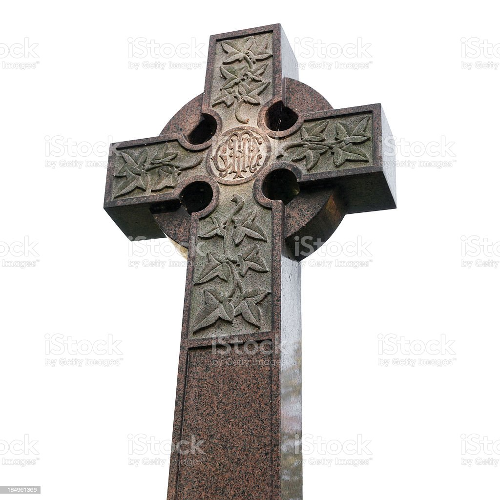 Celtic Cross Tombstone royalty-free stock photo