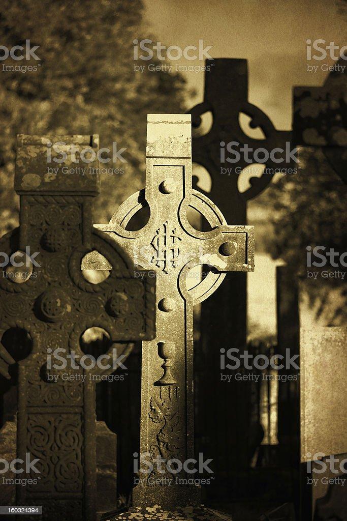 celtic crosses stock photo