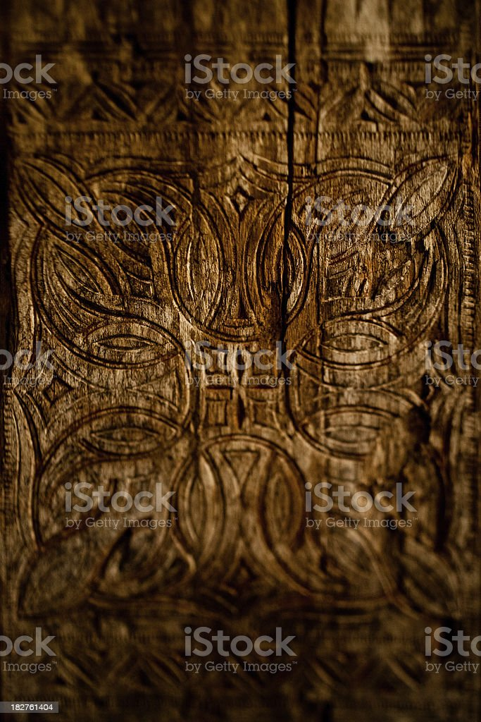 celtic design on wood stock photo