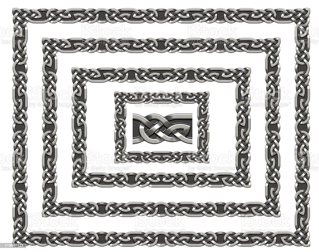 Celtic frame royalty-free stock photo