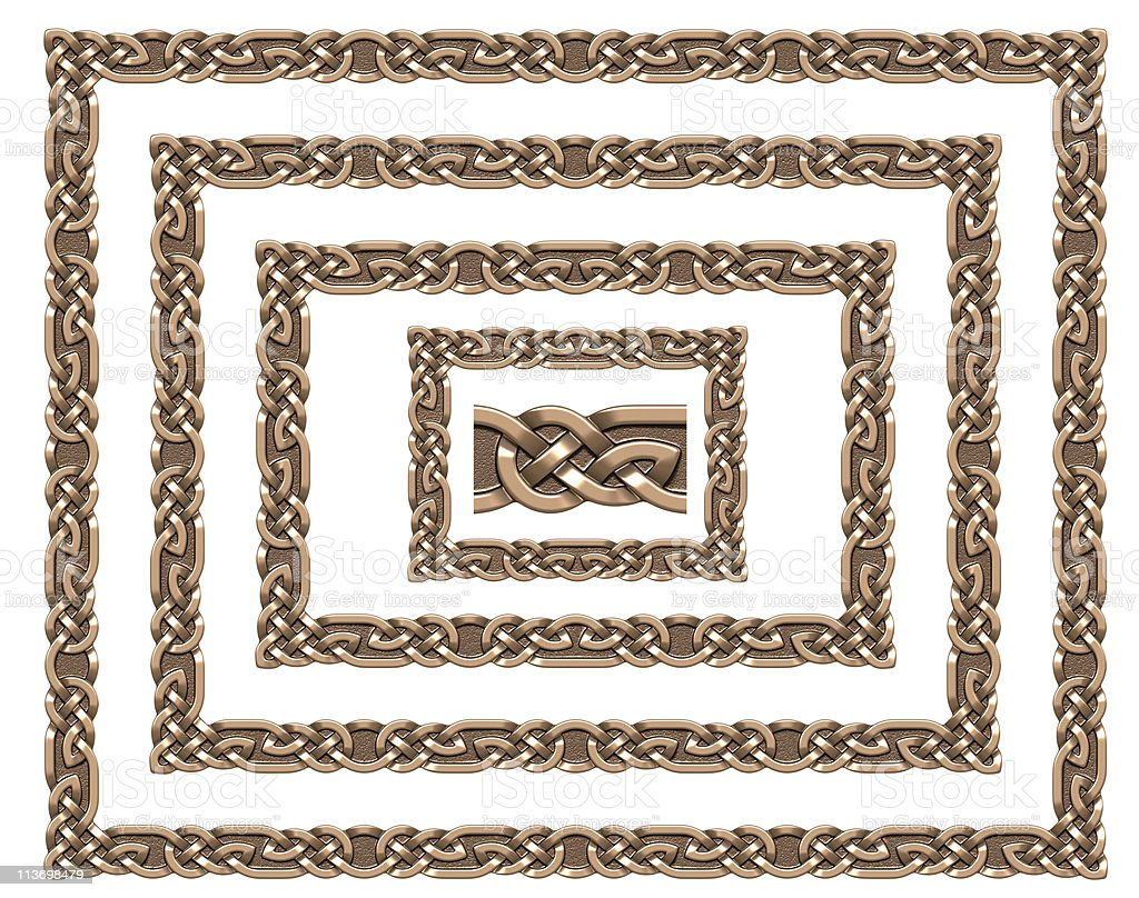 Celtic frame (bronze) royalty-free stock photo