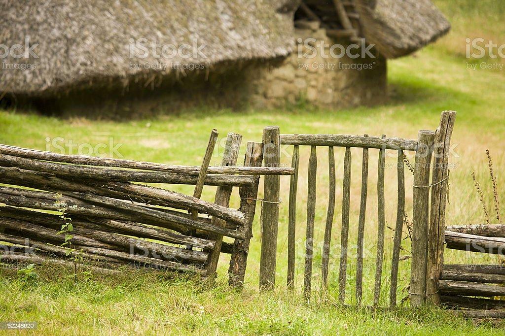 celtic gate royalty-free stock photo