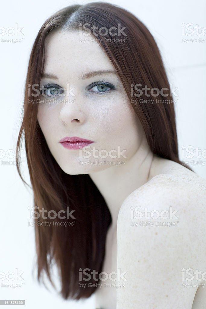Celtic girl portrait royalty-free stock photo