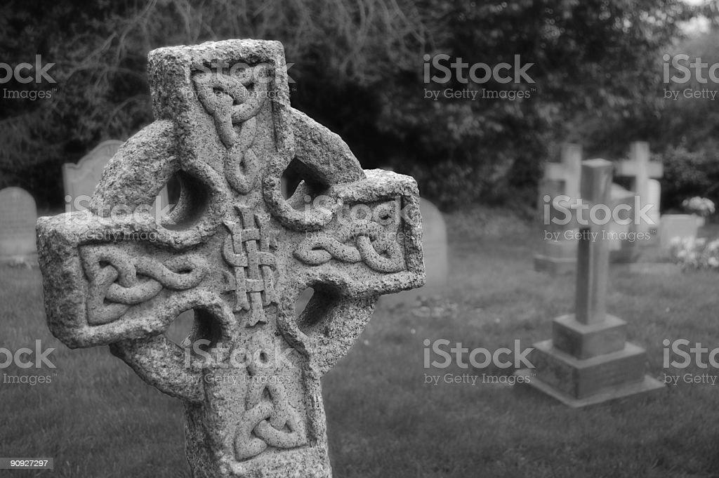 Celtic Grave royalty-free stock photo