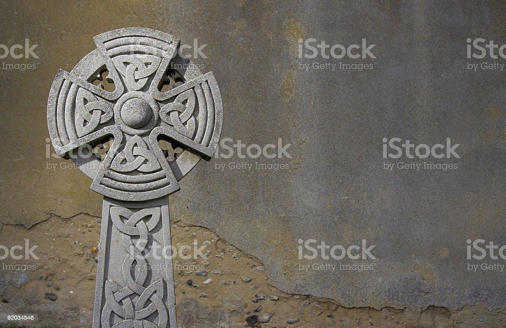 celtic headstone stock photo