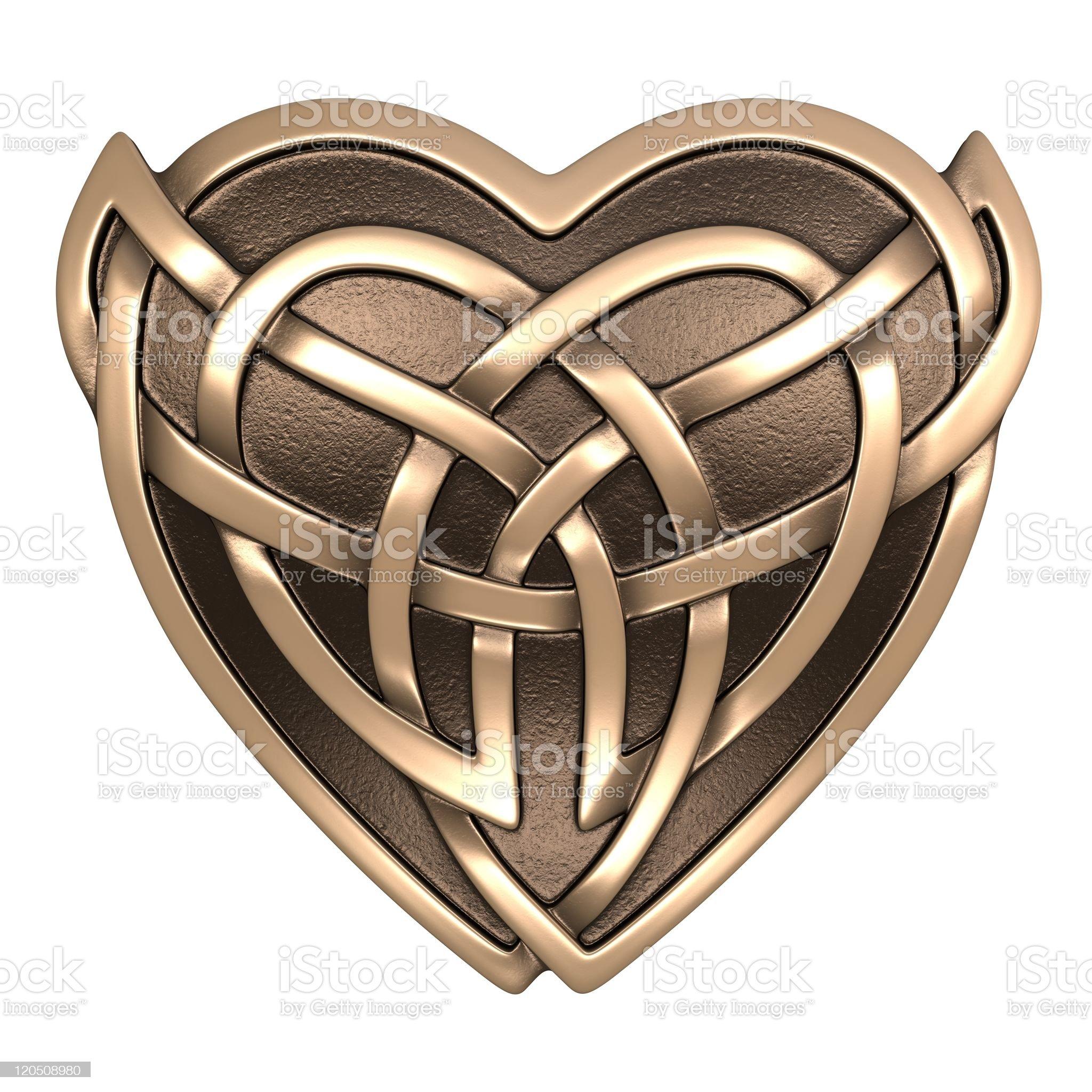 Celtic heart royalty-free stock photo