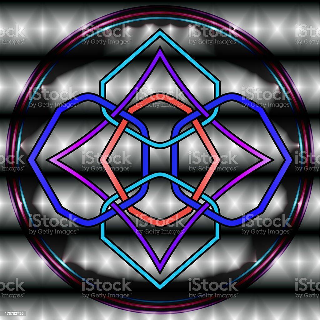 Celtic Knot Illustration royalty-free stock photo
