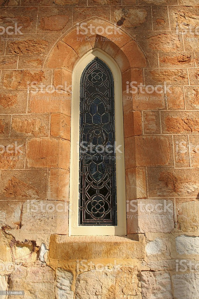 Celtic knot window stock photo