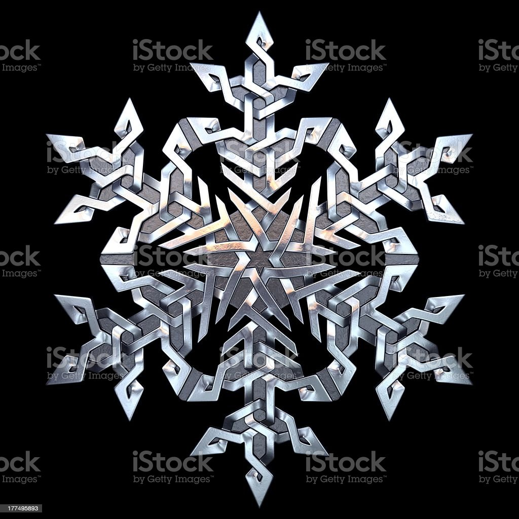 Celtic ornament - snowflake royalty-free stock photo