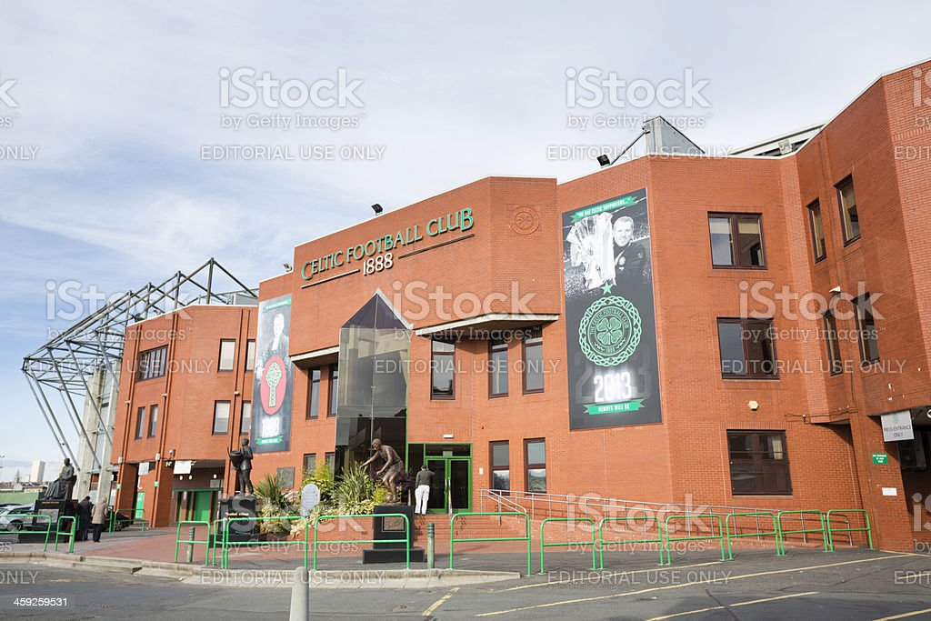 Celtic Park Stadium, Glasgow royalty-free stock photo