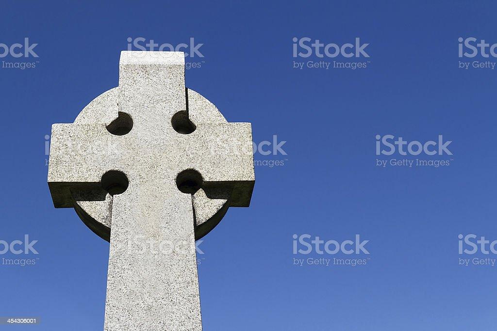 Croce di pietra celtica foto stock royalty-free