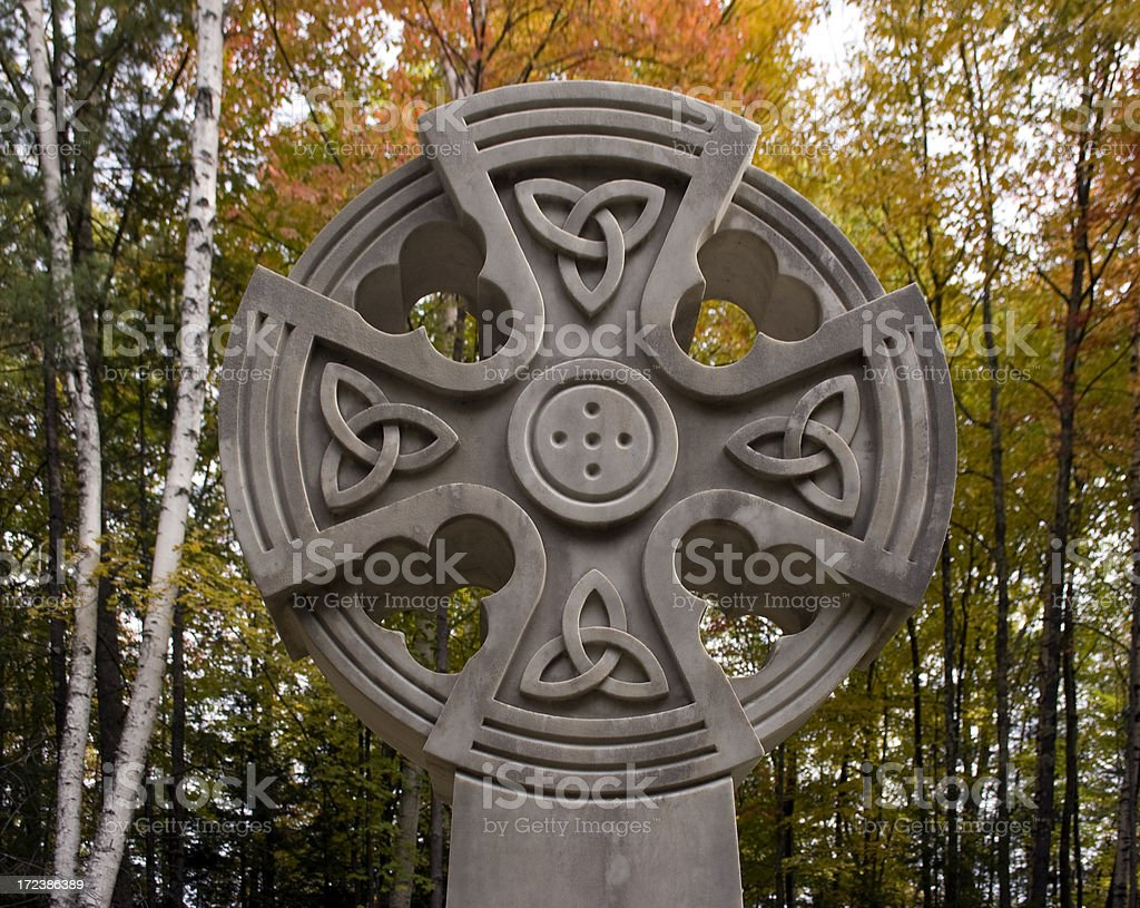 Celtic Stonework stock photo