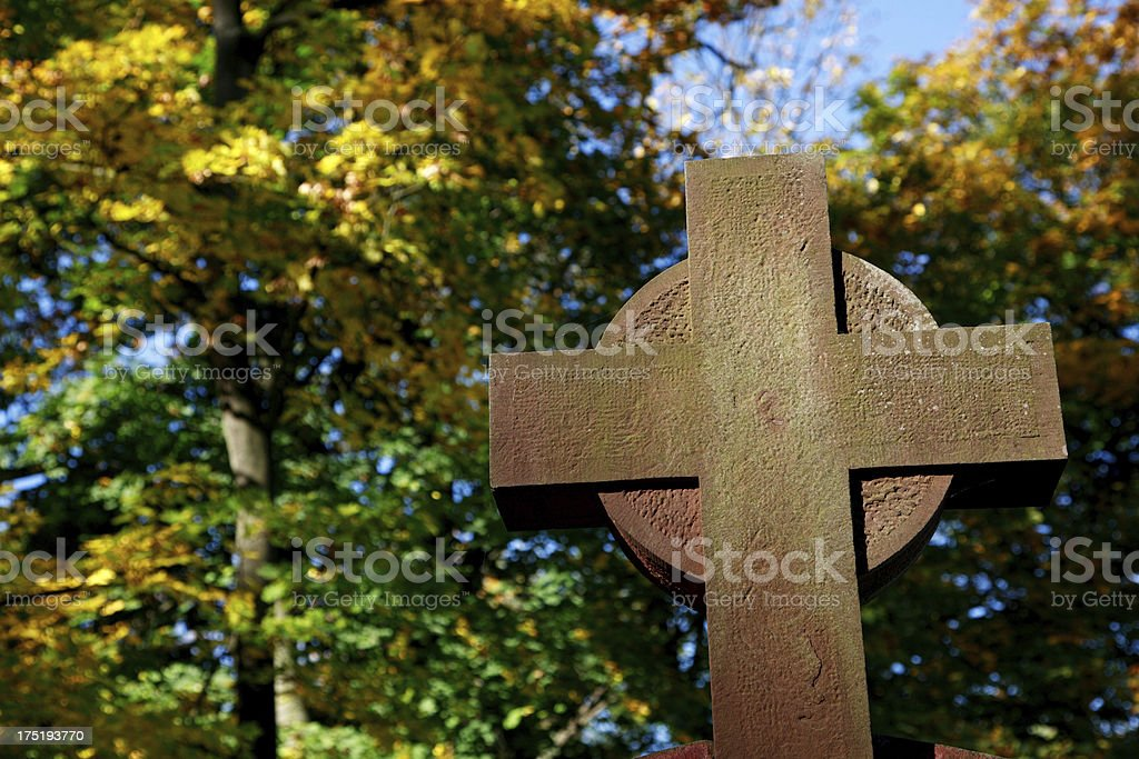 Celtic style High Cross royalty-free stock photo