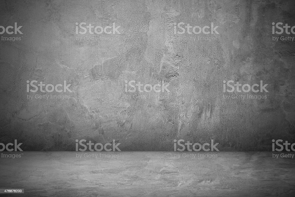 Cement and concrete wall and floor for pattern stock photo
