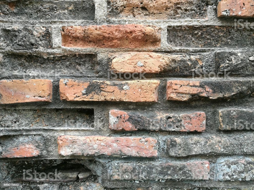 cement and old brick background and texture stock photo