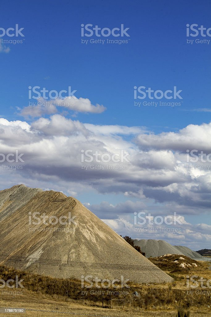 cement and sand extraction royalty-free stock photo