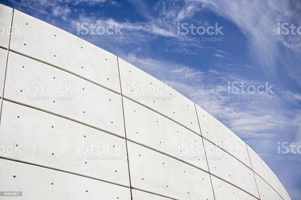 Cement and Sky royalty-free stock photo