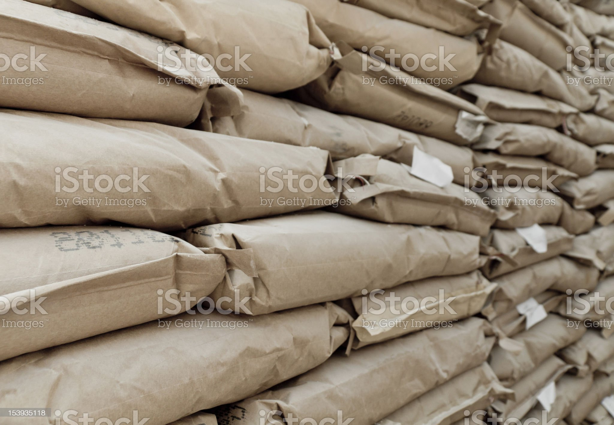 Cement Bags royalty-free stock photo