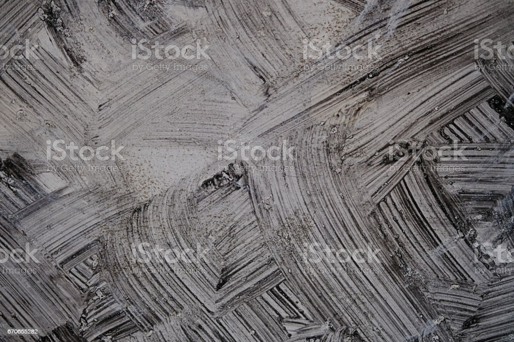 Cement bare wall have gray color and black of the brush pattern. Loft Interior Design. stock photo
