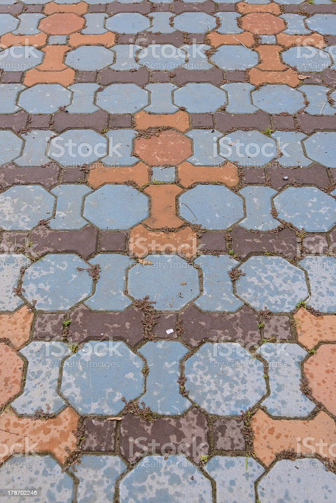 cement block flooring royalty-free stock photo