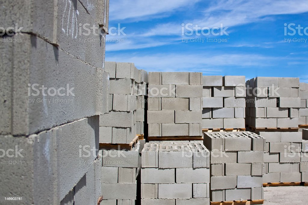 Cement Block stock photo
