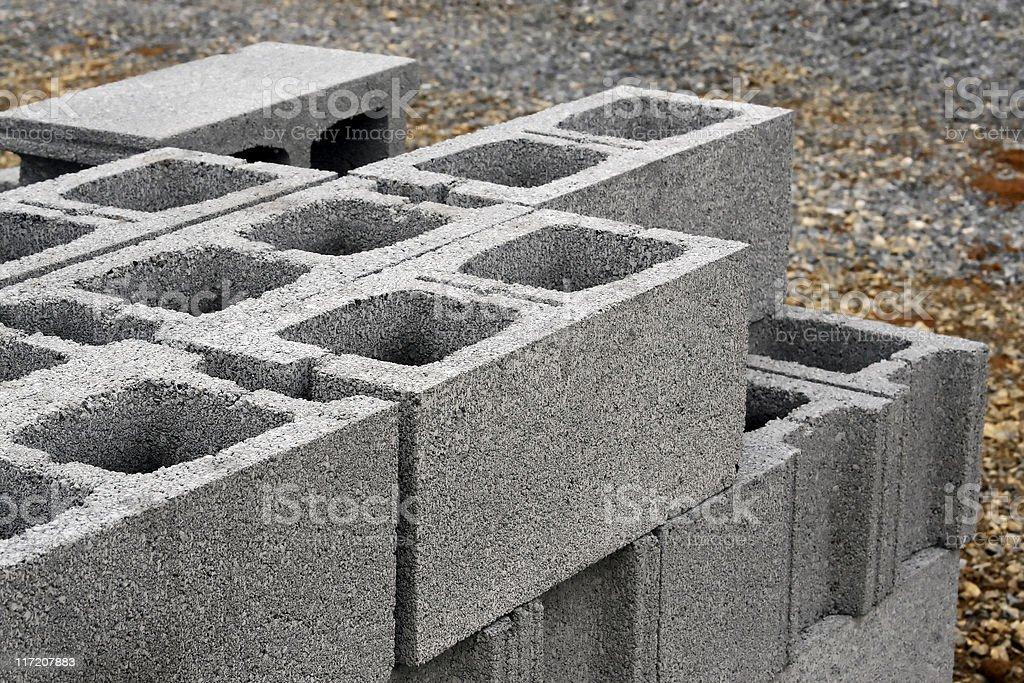 Cement blocks stock photo