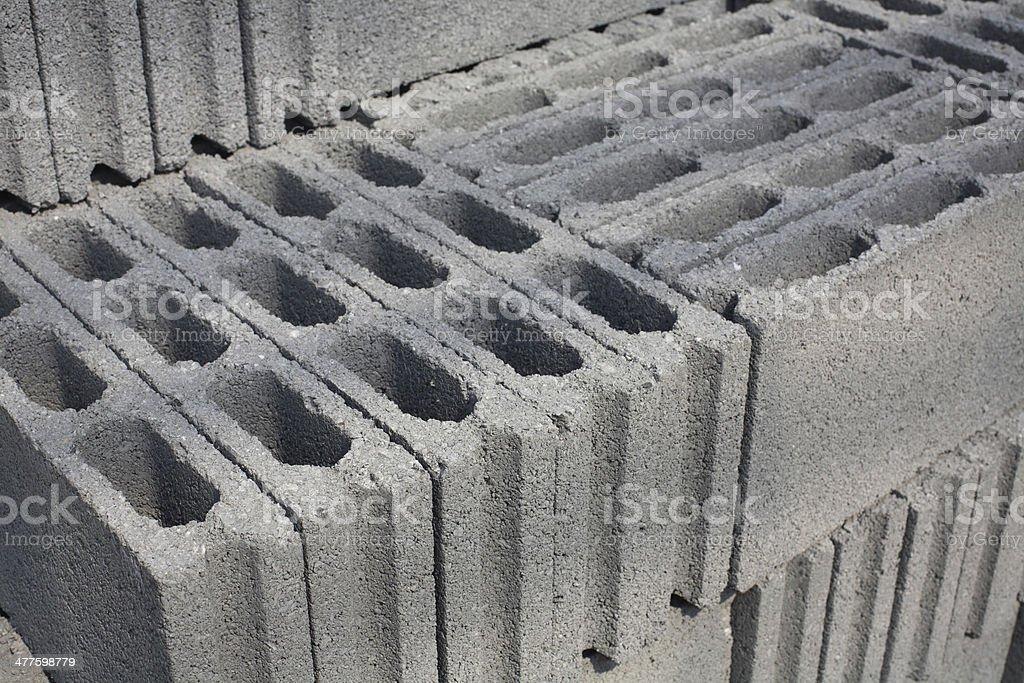 Cement blocks royalty-free stock photo