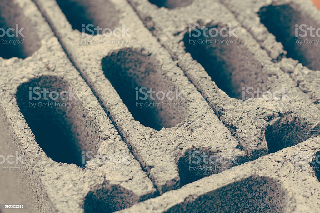 Cement brick background close up stock photo