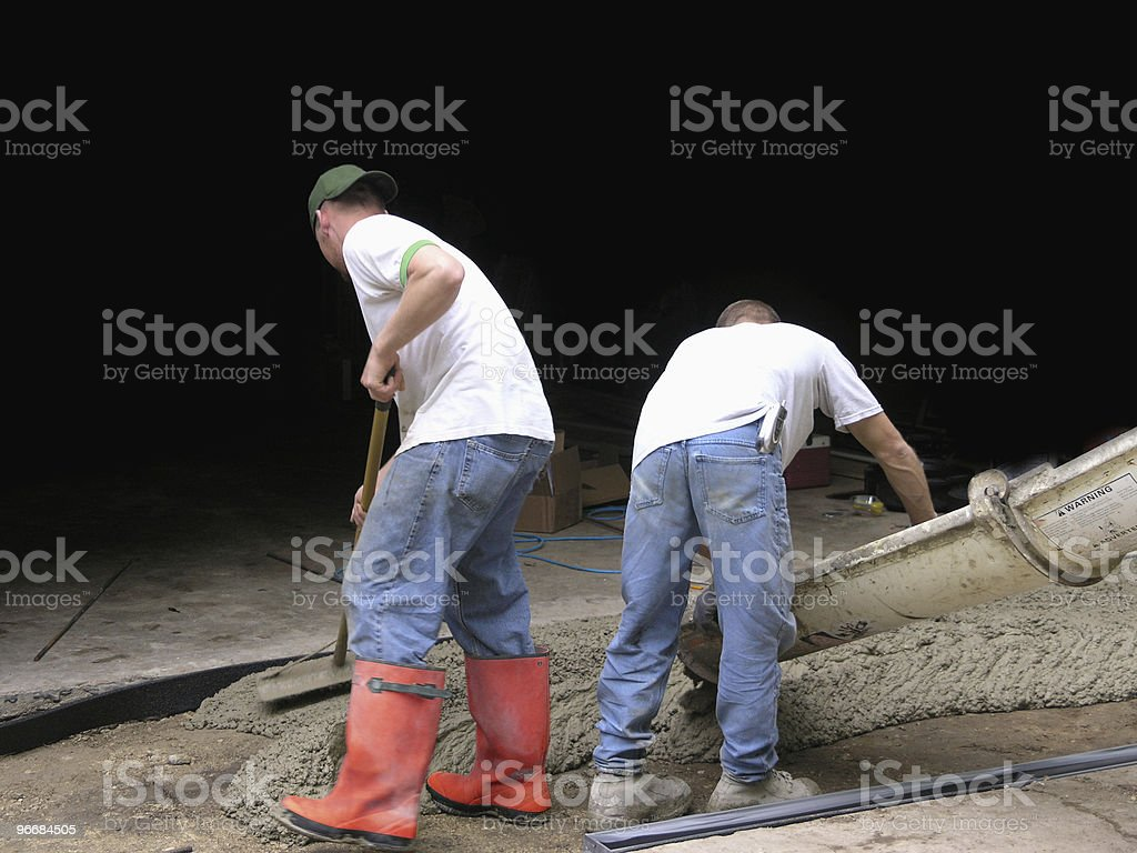 Cement Contractor Workers royalty-free stock photo