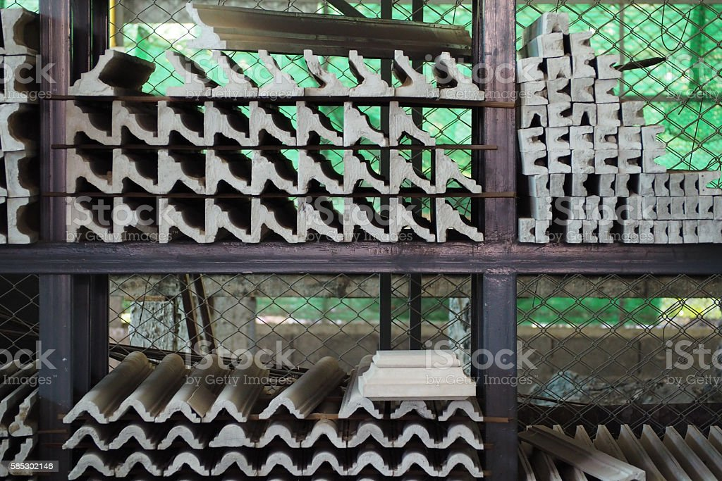 cement corbel for decorate home stock photo