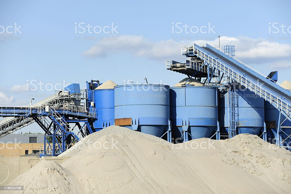Cement factory in the Netherlands stock photo