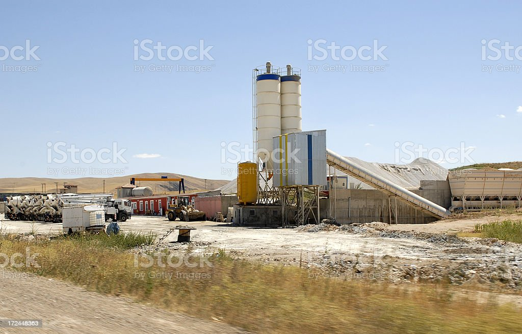 Cement Factory (Click for more) royalty-free stock photo