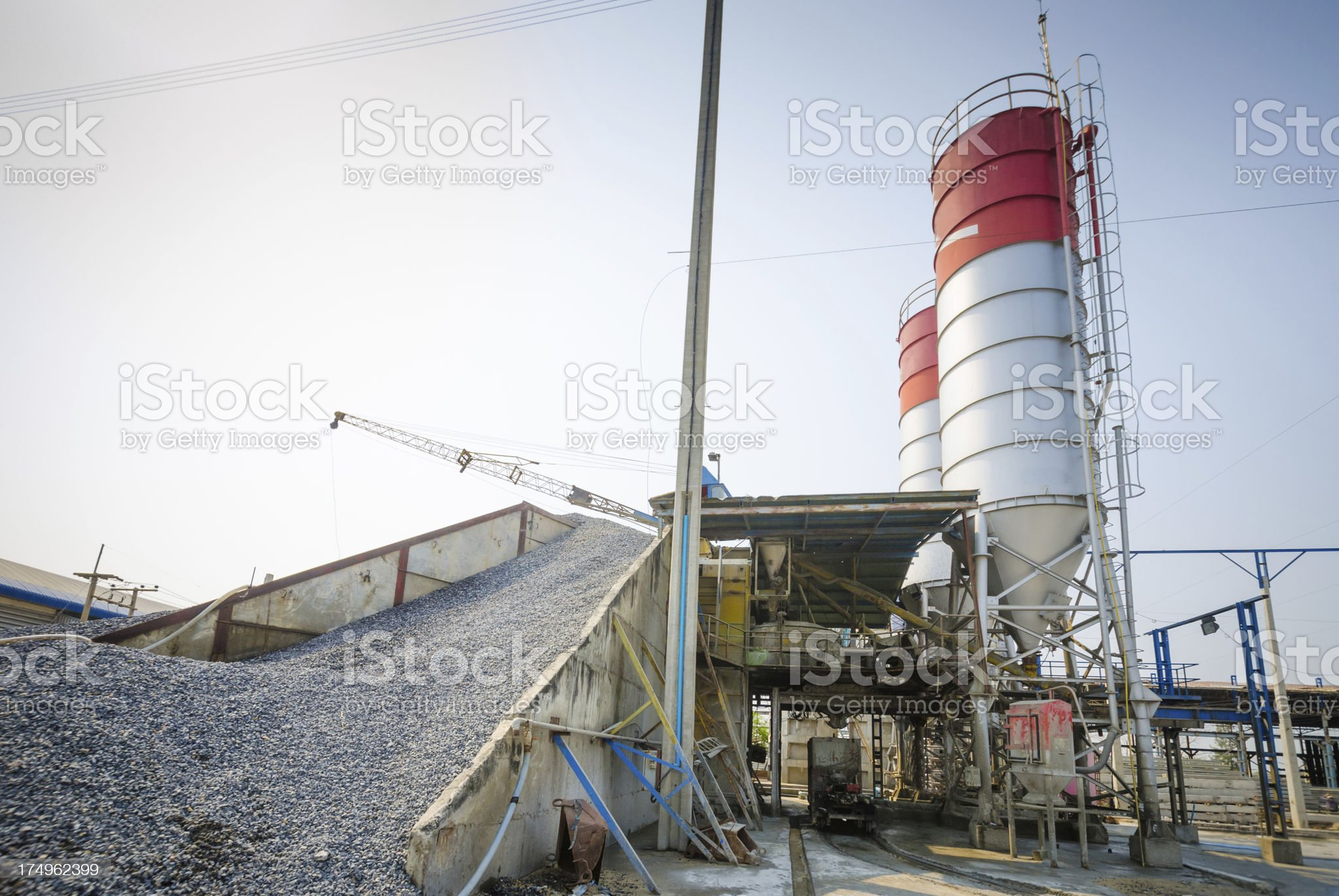 Cement factory royalty-free stock photo