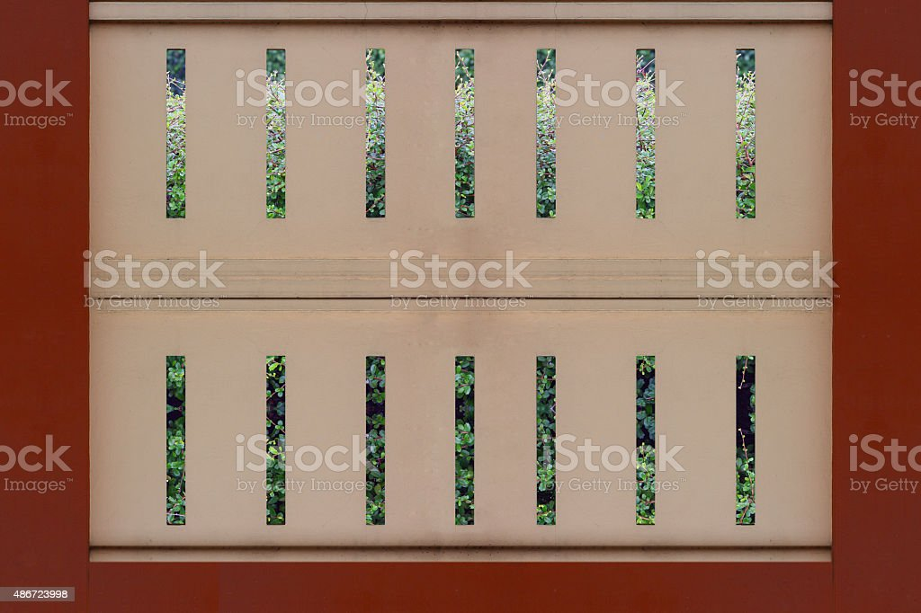 Cement fence wall close stock photo