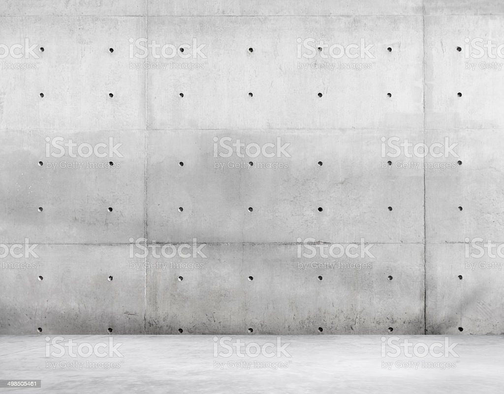 Cement Floor and Concrete Wall for Copy Space stock photo