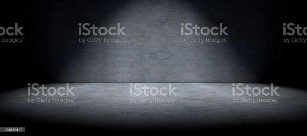 Cement floor background and spot light stock photo