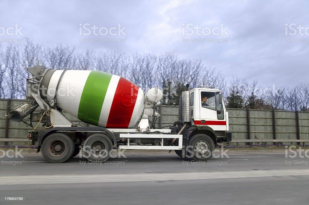 Cement lorry stock photo
