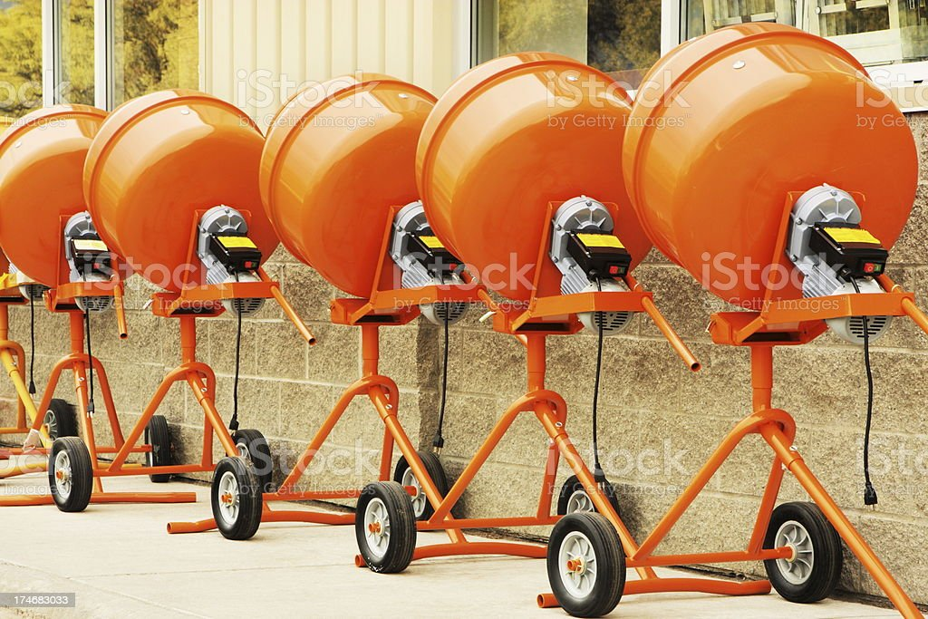 Cement Mixer Contruction Equipment Hardware royalty-free stock photo