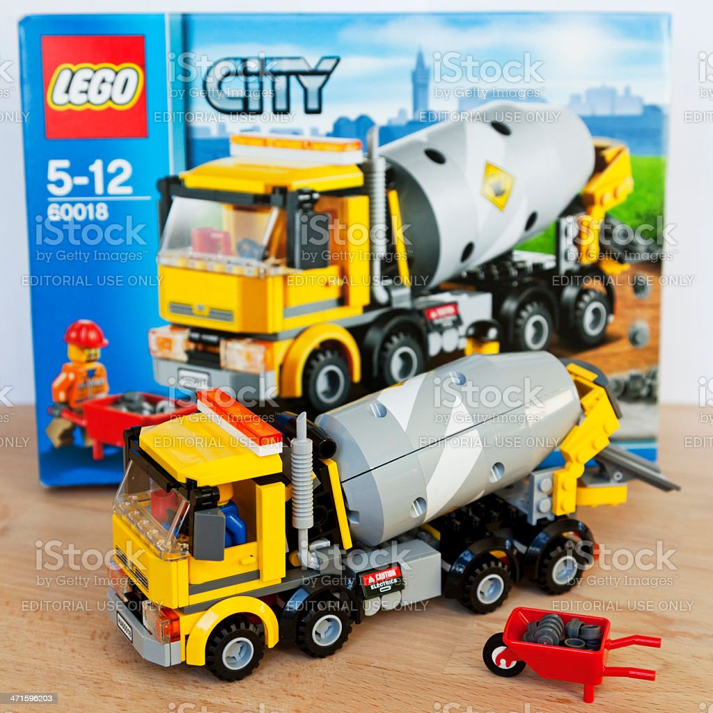 Cement mixer of LEGO City royalty-free stock photo
