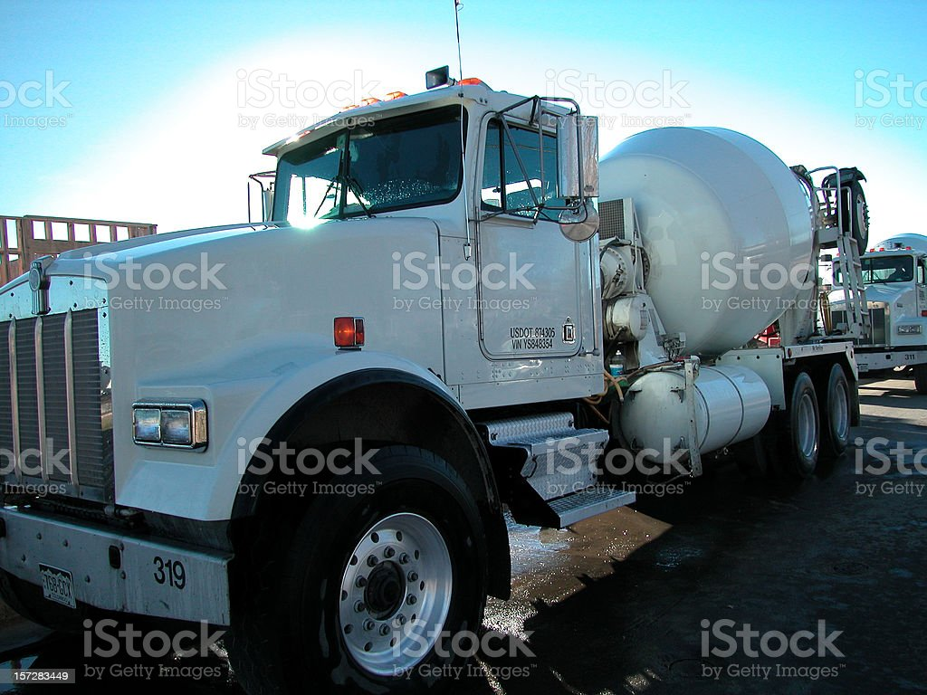 cement mixer royalty-free stock photo